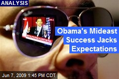 Obama's Mideast Success Jacks Expectations