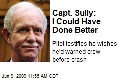 Capt. Sully: I Could Have Done Better