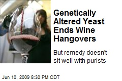 Genetically Altered Yeast Ends Wine Hangovers