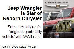 Jeep Wrangler Is Star of Reborn Chrysler