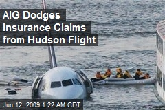 AIG Dodges Insurance Claims from Hudson Flight