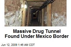 Massive Drug Tunnel Found Under Mexico Border