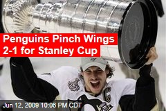 Penguins Pinch Wings 2-1 for Stanley Cup