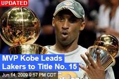 MVP Kobe Leads Lakers to Title No. 15