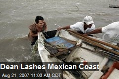 Dean Lashes Mexican Coast