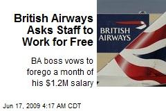 British Airways Asks Staff to Work for Free