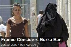 France Considers Burka Ban