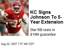 KC Signs Johnson To 5-Year Extension