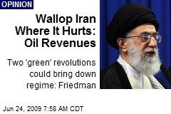 Wallop Iran Where It Hurts: Oil Revenues