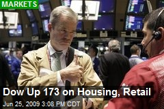 Dow Up 173 on Housing, Retail
