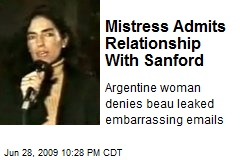 Mistress Admits Relationship With Sanford