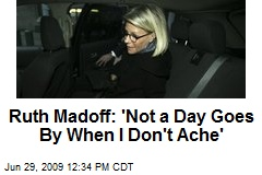 Ruth Madoff: 'Not a Day Goes By When I Don't Ache'