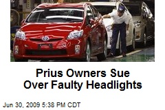 Prius Owners Sue Over Faulty Headlights
