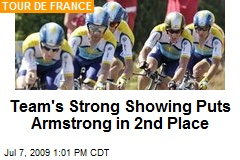 Team's Strong Showing Puts Armstrong in 2nd Place