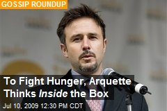 To Fight Hunger, Arquette Thinks Inside the Box