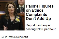 Palin's Figures on Ethics Complaints Don't Add Up