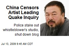 China Censors Artist Leading Quake Inquiry