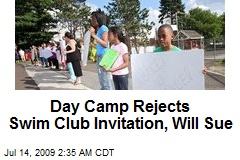 Day Camp Rejects Swim Club Invitation, Will Sue