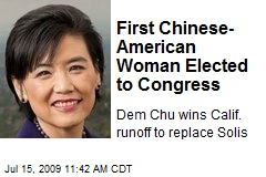 First Chinese-American Woman Elected to Congress