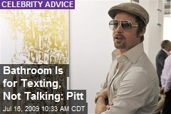 Bathroom Is for Texting, Not Talking: Pitt
