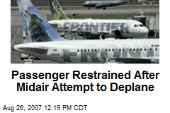 Passenger Restrained After Midair Attempt to Deplane