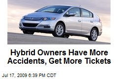 Hybrid Owners Have More Accidents, Get More Tickets