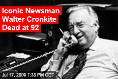 Iconic Newsman Walter Cronkite Dead at 92