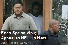 Feds Spring Vick; Appeal to NFL Up Next