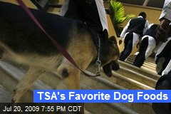 TSA's Favorite Dog Foods