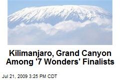 Kilimanjaro, Grand Canyon Among '7 Wonders' Finalists