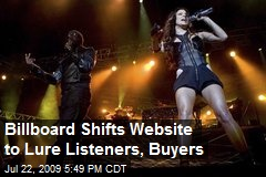 Billboard Shifts Website to Lure Listeners, Buyers