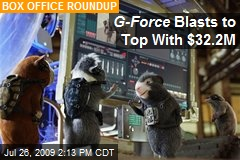 G-Force Blasts to Top With $32.2M