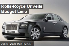 Rolls-Royce Unveils Budget Limo