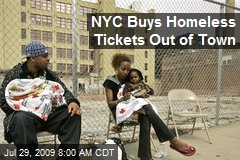 NYC Buys Homeless Tickets Out of Town