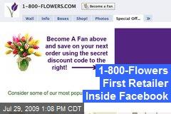 1-800-Flowers First Retailer Inside Facebook