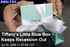 Tiffany's Little Blue Box Keeps Recession Out