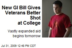 New GI Bill Gives Veterans Better Shot at College