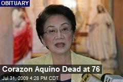 Corazon Aquino Dead at 76