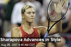Sharapova Advances in Style