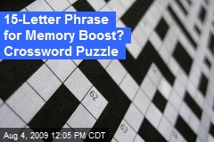 15-Letter Phrase for Memory Boost? Crossword Puzzle