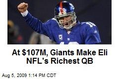 At $107M, Giants Make Eli NFL's Richest QB