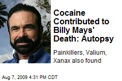 Cocaine Contributed to Billy Mays' Death: Autopsy
