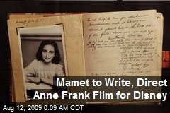 Mamet to Write, Direct Anne Frank Film for Disney