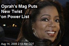 Oprah's Mag Puts New Twist on Power List