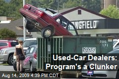 Used-Car Dealers: Program's a Clunker