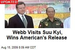 Webb Visits Suu Kyi, Wins American's Release