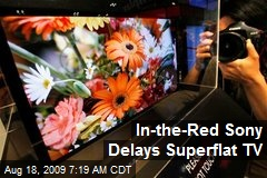 In-the-Red Sony Delays Superflat TV