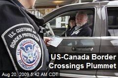 US-Canada Border Crossings Plummet