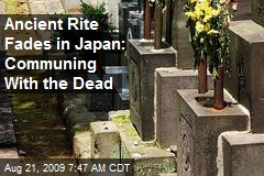 Ancient Rite Fades in Japan: Communing With the Dead