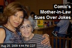 Comic's Mother-in-Law Sues Over Jokes